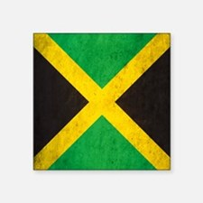 "Vintage Jamaica Flag Square Sticker 3"" x 3"""