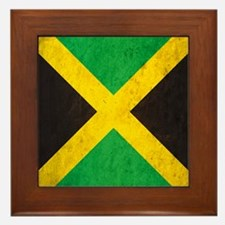 Vintage Jamaica Flag Framed Tile