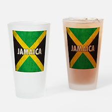 Jamaica Grunge Flag Drinking Glass