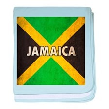 Jamaica Grunge Flag baby blanket