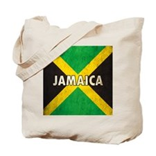 Jamaica Grunge Flag Tote Bag
