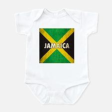Jamaica Grunge Flag Infant Bodysuit