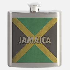 Jamaica Grunge Flag Flask