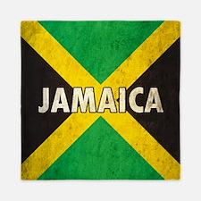 Jamaica Grunge Flag Queen Duvet