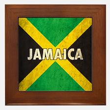 Jamaica Grunge Flag Framed Tile