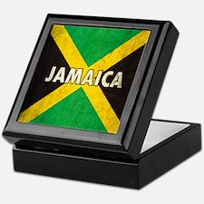 Jamaica Grunge Flag Keepsake Box