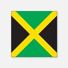 "Jamaica Flag Square Sticker 3"" x 3"""