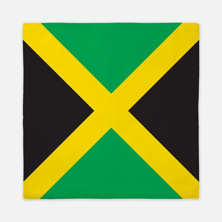 Jamaica Flag Queen Duvet