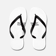 Nothing is impossible funny Flip Flops