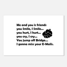 Friends funny Postcards (Package of 8)