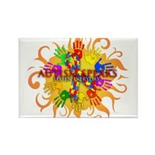 Autism Sun Rectangle Magnet