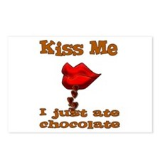Chocolate Kiss Postcards (Package of 8)