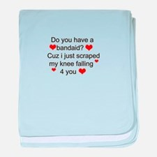 Funny text line baby blanket