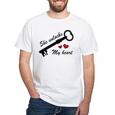 She Unlocks My Heart Shirt