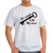 She Unlocks My Heart T-Shirt