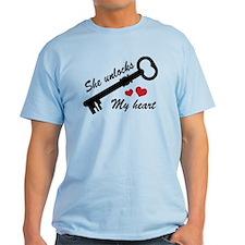 She Unlocks My Heart T-Shirt