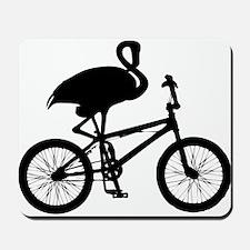 Flamingo on Bicycle Mousepad