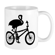 Flamingo on Bicycle Mug