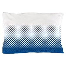 Modern Halftone - Blue and White Pillow Case