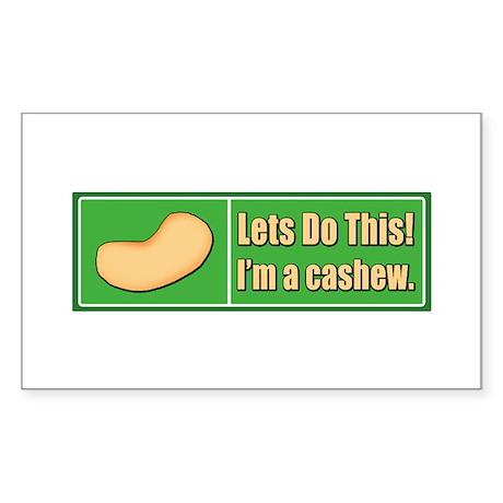 I'm a Cashew Rectangle Sticker