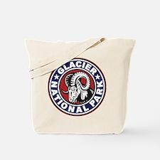 Glacier Red White & Blue Circle Tote Bag
