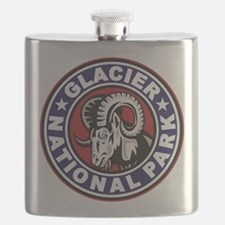 Glacier Red White & Blue Circle Flask