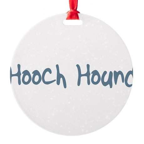 HoochHound10.png Round Ornament