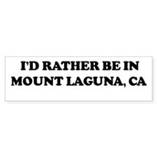 Rather: MOUNT LAGUNA Bumper Bumper Sticker
