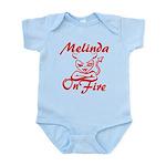 Melinda On Fire Infant Bodysuit