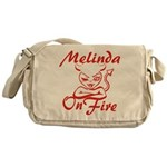 Melinda On Fire Messenger Bag