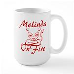 Melinda On Fire Large Mug