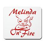 Melinda On Fire Mousepad