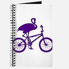 Purple Flamingo on Bicycle Journal