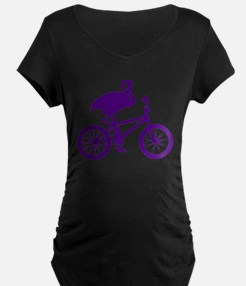 Purple Flamingo on Bicycle T-Shirt