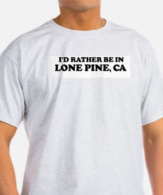 Rather: LONE PINE Ash Grey T-Shirt