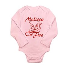 Melissa On Fire Long Sleeve Infant Bodysuit