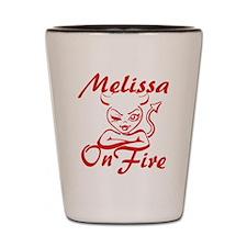 Melissa On Fire Shot Glass