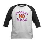 I'm Having A No Hair Day Kids Baseball Jersey