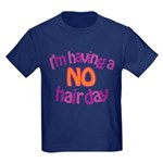 I'm Having A No Hair Day Kids Dark T-Shirt