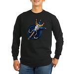 ORNATE Joker Blue Long Sleeve T-Shirt