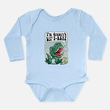 Grampy's Lil' T-Rex Long Sleeve Infant Bodysuit