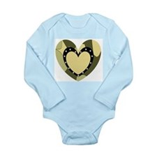 Comuflage Army Heart Onesie Romper Suit