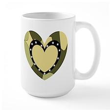 Comuflage Army Heart Mug