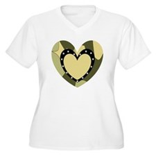 Comuflage Army Heart T-Shirt