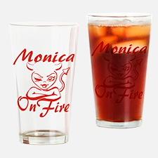 Monica On Fire Drinking Glass