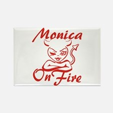 Monica On Fire Rectangle Magnet
