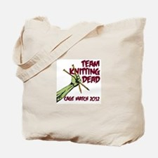 Team Knitting Dead Cage Match Tote Bag