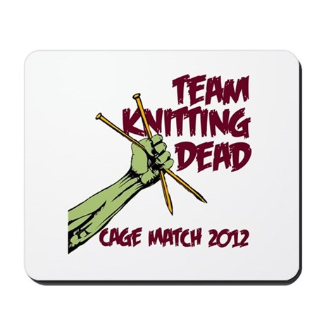 Team Knitting Dead Cage Match Mousepad