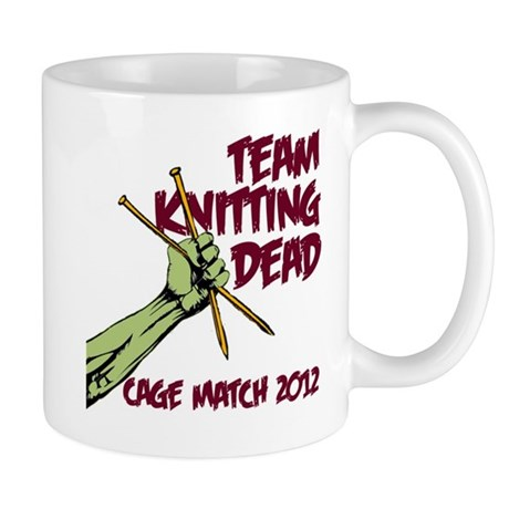 Team Knitting Dead Cage Match Mug