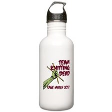 Team Knitting Dead Cage Match Water Bottle